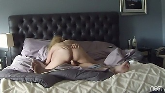 Whorish blonde housewife with big ass is so into riding strong cock