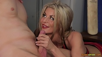 Alyssa Divine and Tia Layne team up to pleasure one stiff penis