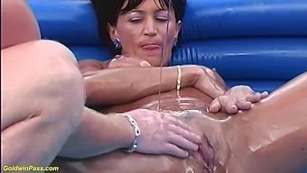 rough oiled fisting with my stepmom