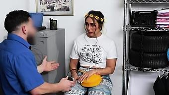 Hippie Teen Caught Trespassing And Fucked