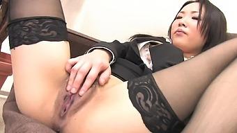 Uncensored Japanese solo masturbation with hot doll Ai Mizushima
