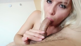 Aunt munches on my dick for fun