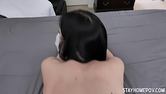 Covid 19 causes a hook up between two step-siblings and that girl loves dick
