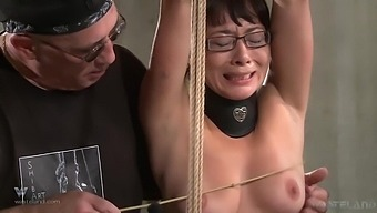 Petite 99lbs Chinese chick gets her first taste of BDSM session