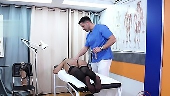 Big tits doctor blowjob with cumshot