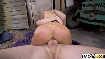 After jerking cock off busty MILF wanna ride strong cock on top sensually