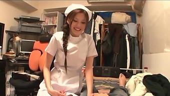 Lucky man gets his dick pleasured by seductive nurse Ameri Ichinose