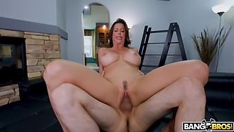 Cum in mouth for sexy MILF Alexis Fawx after hardcore fucking