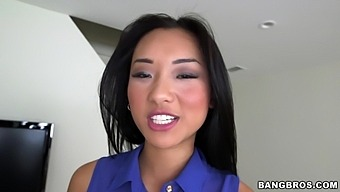Sweet Asian chick Alina Li teases and sucks a large dick in POV