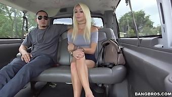Cute blonde dazzles with plain bang bus XXX