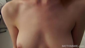 Redhead Alex Harper's homemade bathroom sex video