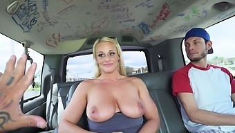 Bang bus express for busty natural with golden hair